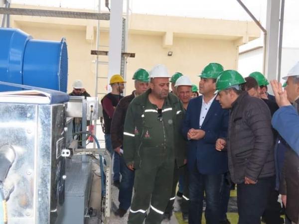 وزير النفط يعاين (معمل غاز حيان)... زيادة الإنتاج  200 ألف م3  بعد اتمام الصيانة بخبرات وطنية